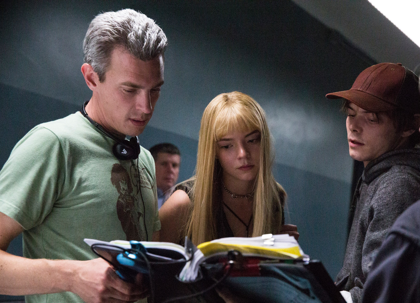 Director Josh Boone, Anya Taylor-Joy and Charlie Heaton.