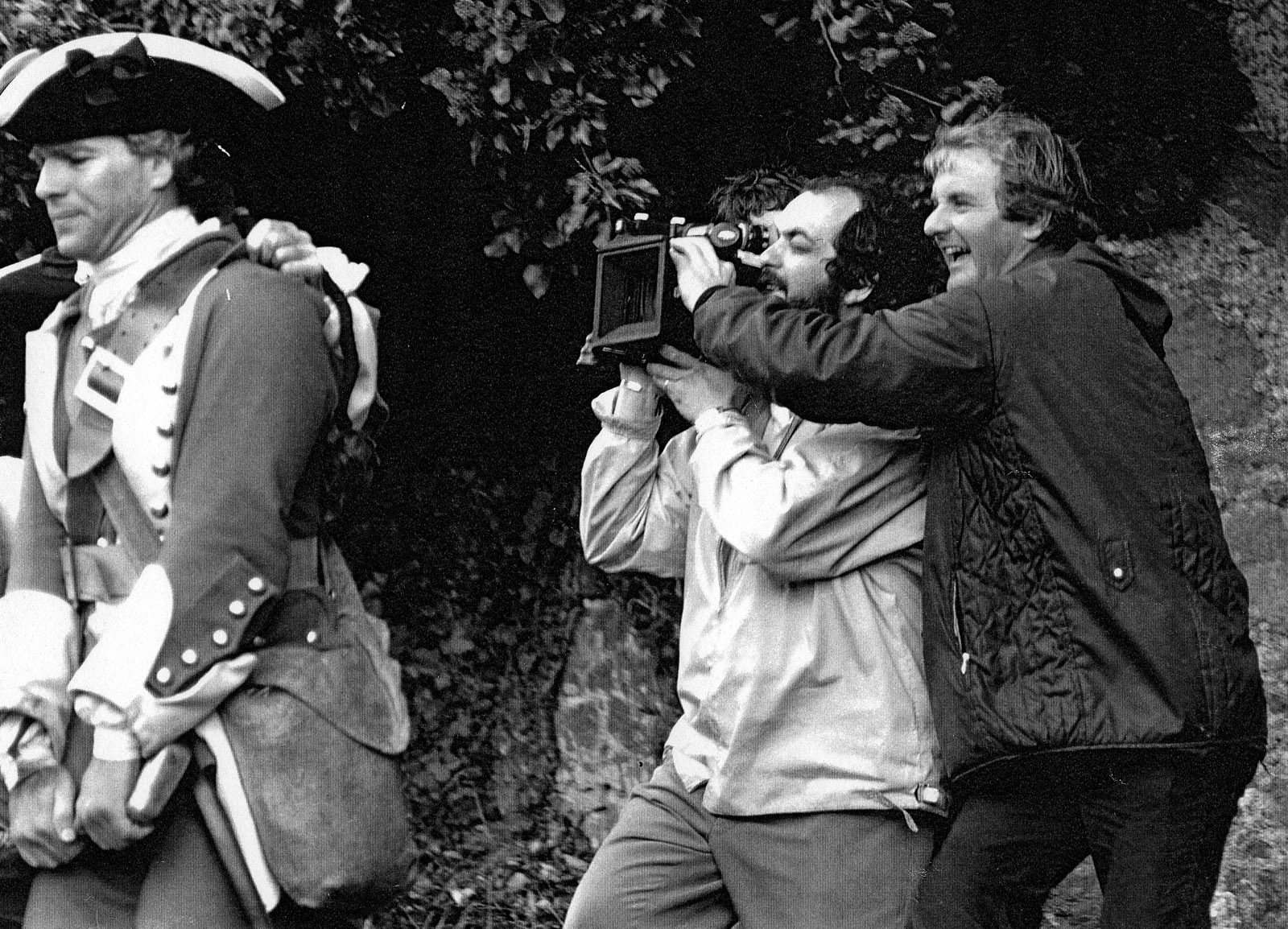 With Stanley Kubrick on Barry Lyndon (1975)