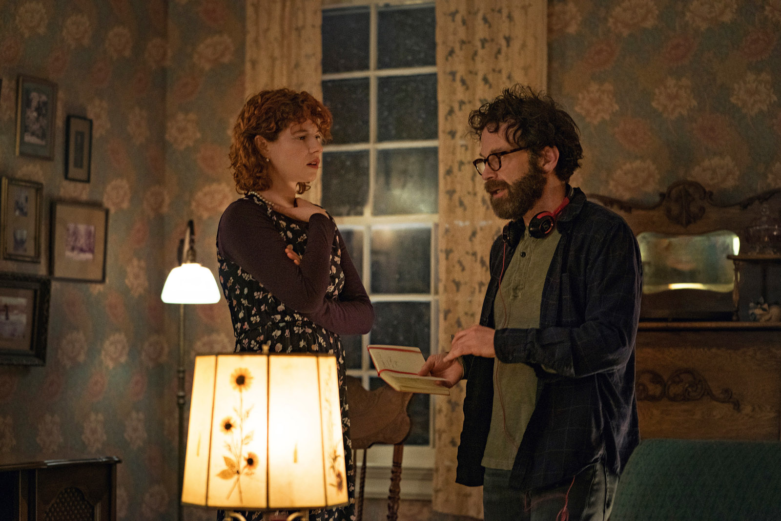 Charlie Kaufman gives direction to Jessie Buckley