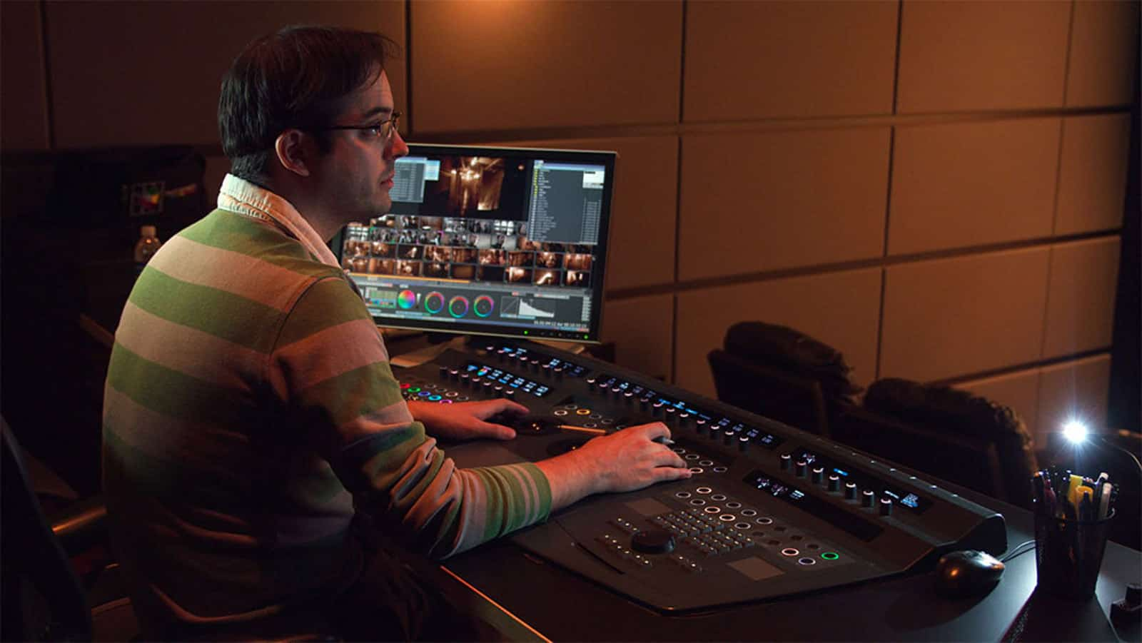 Ian Vertovec working on Quantel Pablo on <em>The Girl with the Dragon Tattoo</em> at Light Iron