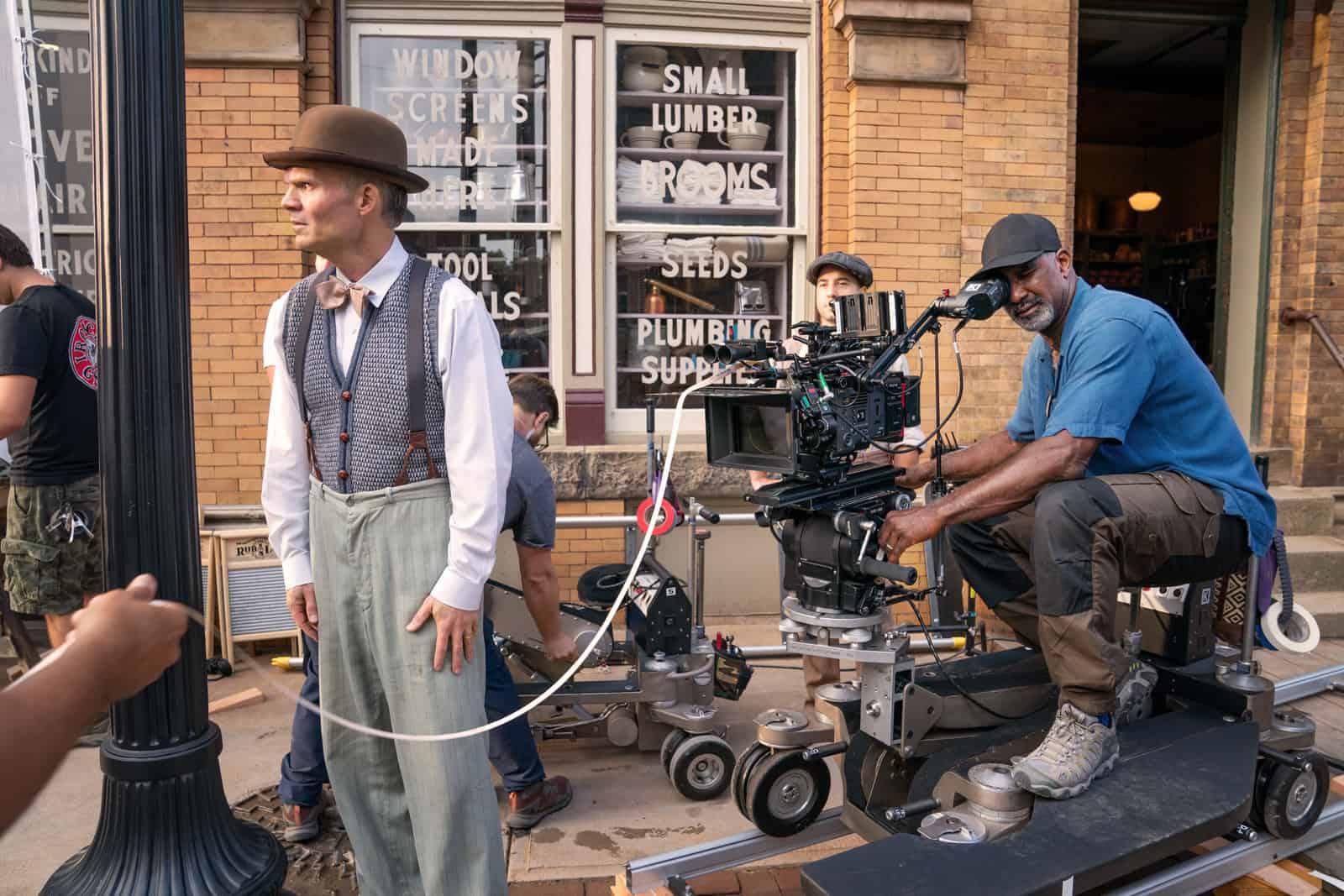 MA RAINEYÕS BLACK BOTTOM (2020) Camera Operator Kirk Gardner on the set.  Cr: David Lee/NETFLIX