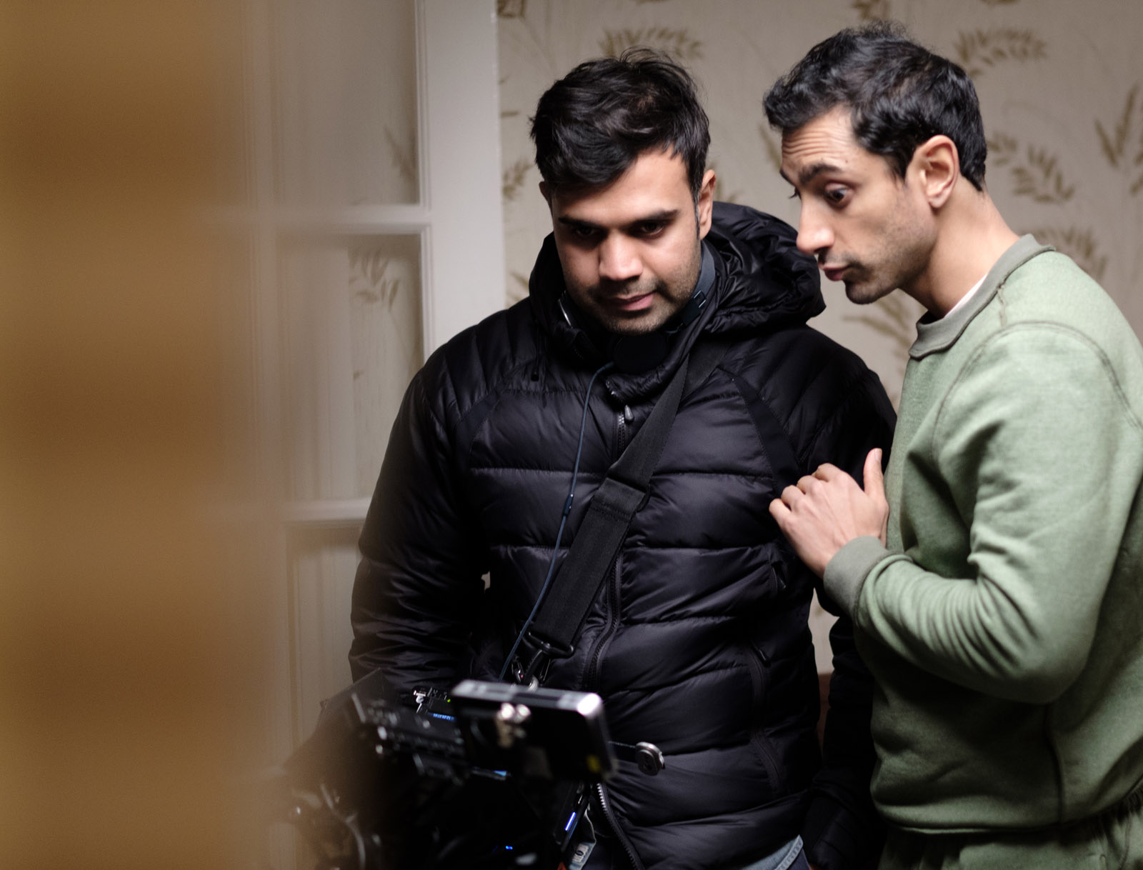Director Bassam Tariq (left) with Riz Ahmed (who played Zed)