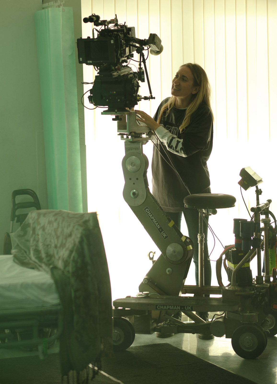 Annika Summerson on set