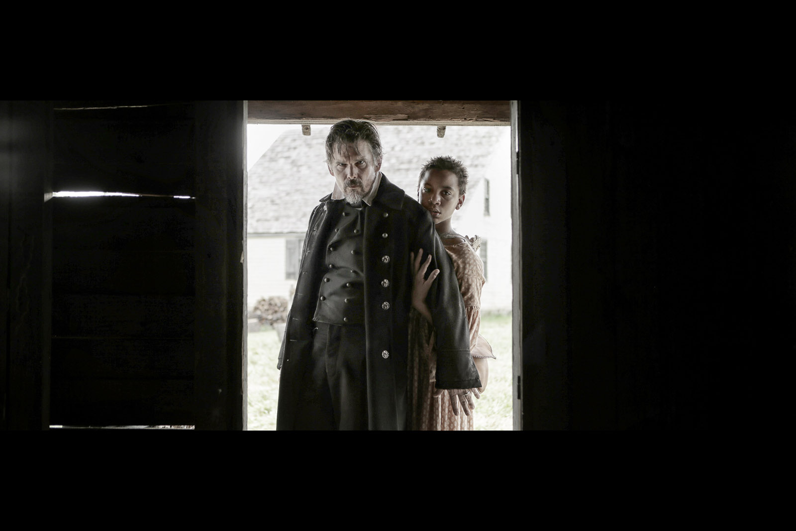 Ethan Hawke as John Brown and Joshua Johnson-Lionel as Onion in The Good Lord Bird.