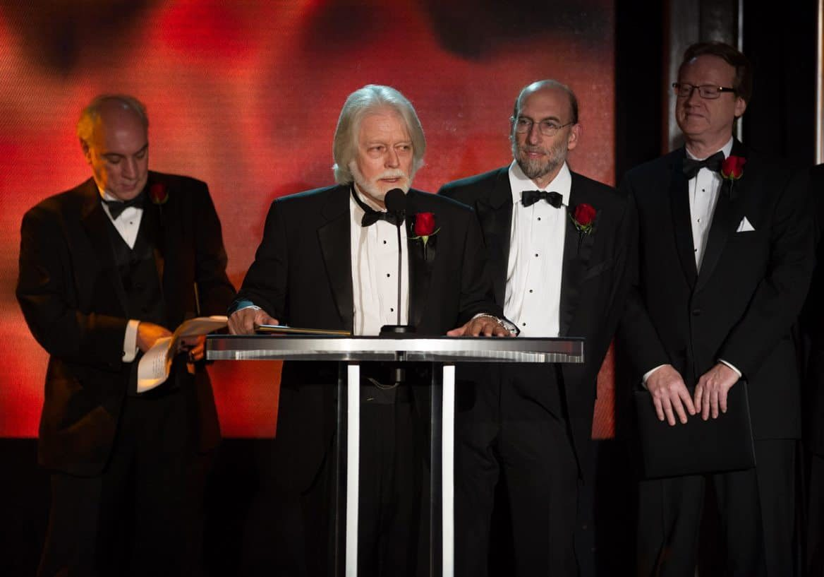 The Academy of Motion Picture Arts and Sciences' Scientific and Technical Achievement Awards on February 15, 2013, in Beverly Hills, California. Pictured (left to right): Joshua Pines, Curtis Clark, David Reisner and David Register.