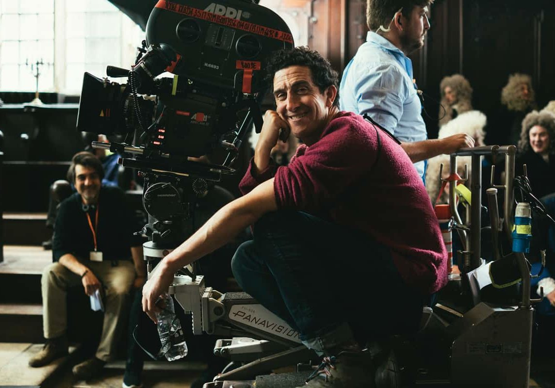 All smiles - Robbie Ryan BSC ISC on the set of <em>The Favourite</em>