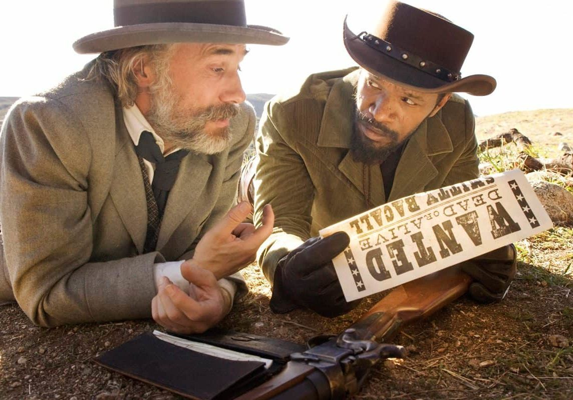 "This undated publicity image released by The Weinstein Company shows, Christoph Waltz as Schultz, left, and Jamie Foxx as Django in the film, ""Django Unchained,"" directed by Quentin Tarantino. Foxx says Hollywood should take some responsibility for tragedies such as the deadly school shooting in Connecticut on Friday, Dec. 14, 2012. In an interview Saturday, Dec. 15, 2012, Foxx said actors cannot ""turn their back"" on that fact that movie violence can ""influence"" people. (AP Photo/The Weinstein Company, Andrew Cooper, SMPSP) ORG XMIT: NYET737"
