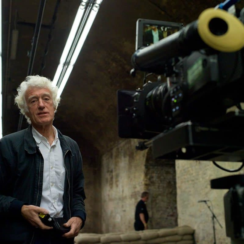 DP Roger Deakins on location in the underground MI6 shooting range on the set of Metro-Goldwyn-Mayer Pictures/Columbia Pictures/EON Productions' action adventure SKYFALL.