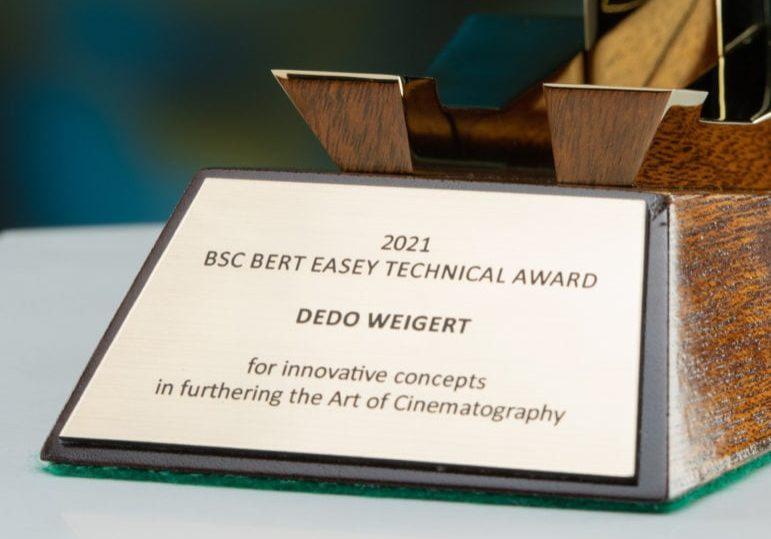 Bert Easey Technical Award '21