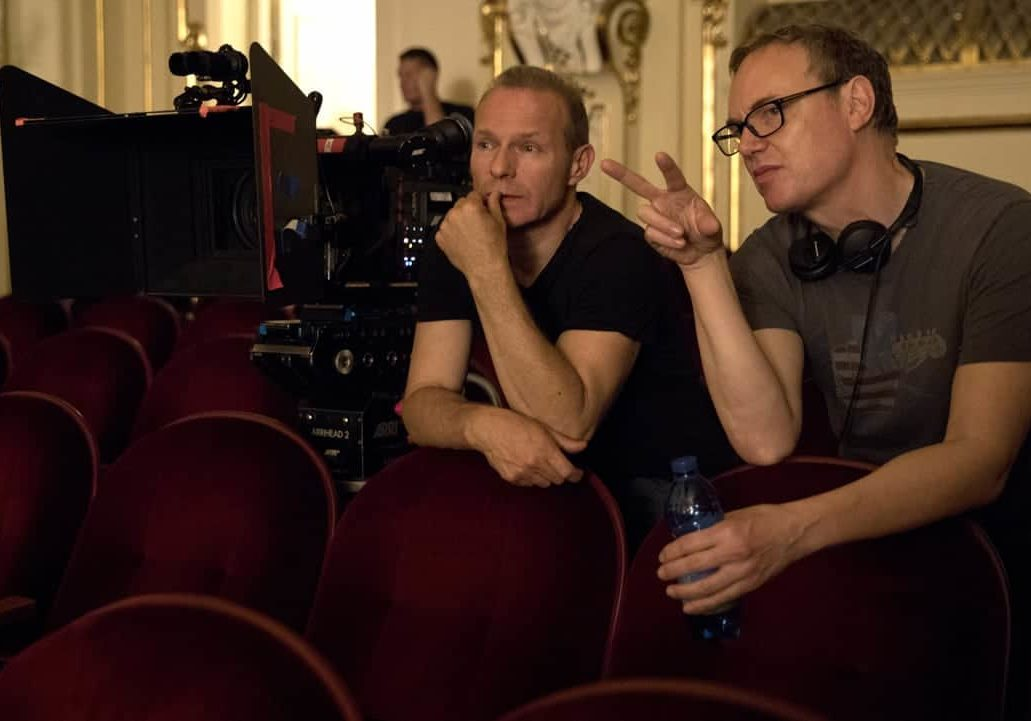 Director of Photography Giles Nuttgens and director Wash Westmoreland on the set. Credit: Robert Viglasky / Bleecker Street