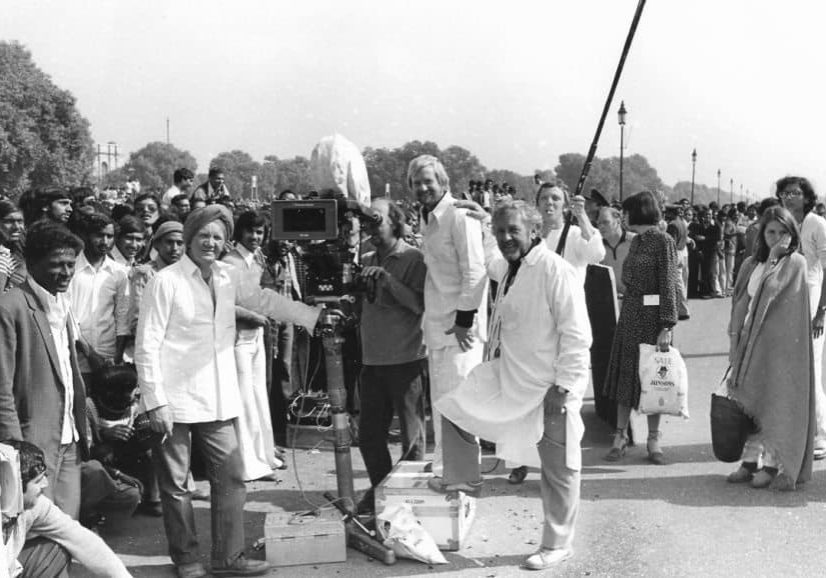 Crew shot… of <em>Gandhi</em> during production