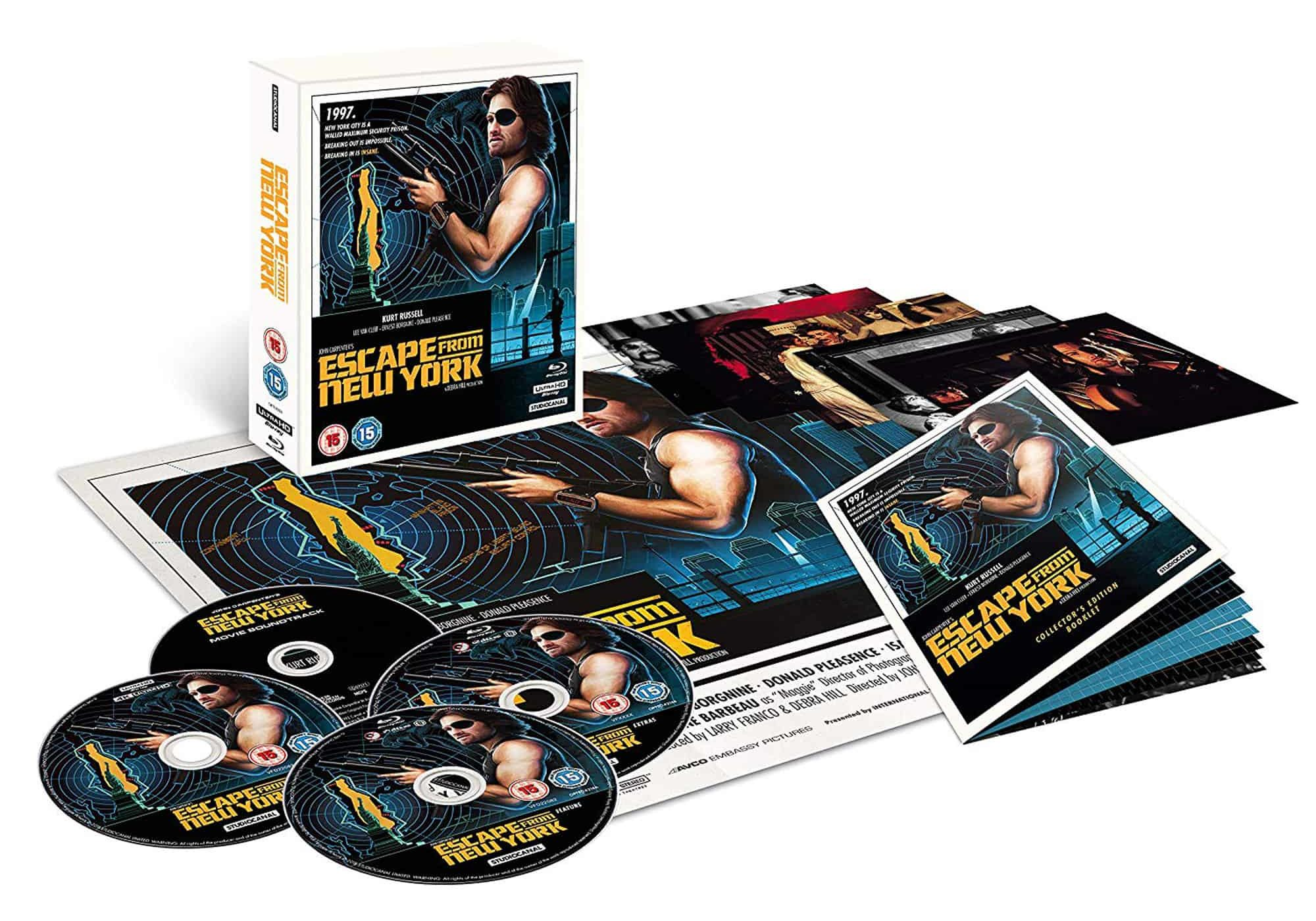 Collector's Edition 4K Ultra HD boxset artwork for <em>Escape From New York</em>