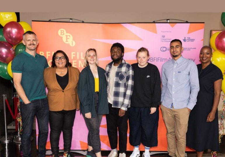 (From far left) Ben Roberts, Candice Campos, Cecily Bedner, Mdhamiri Nkemi, Charlotte Regan, Ravi Ghelani,Gaylene Gould - Photo by Millie Turner