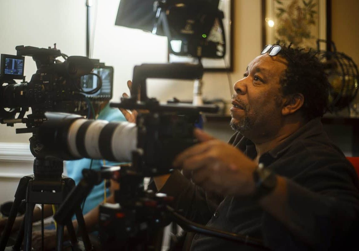 Cinematographer Henry Adebonojo at work on <em>I Am Not Your Negro</em>
