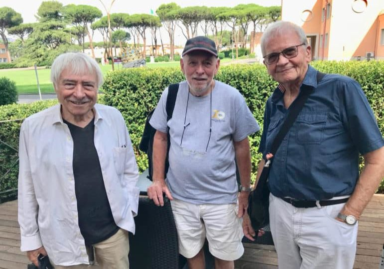 Three bags full… From left: Luciano Tovoli ASC AIC, Nigel Walters BSC and Jost Vacano ASC BVK