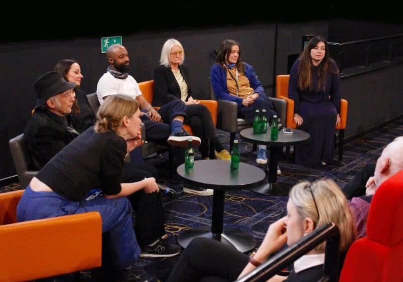 The Panel - Virginie Surdej SBC, Ed Lachman ASC, Natasha Braier ASC ADF, Bradford Young ASC, Nina Kellgren BSC, Ula Pontikos BSC, and Elen Lotman ESC (Moderator). Photo: Lars Pettersson FSF