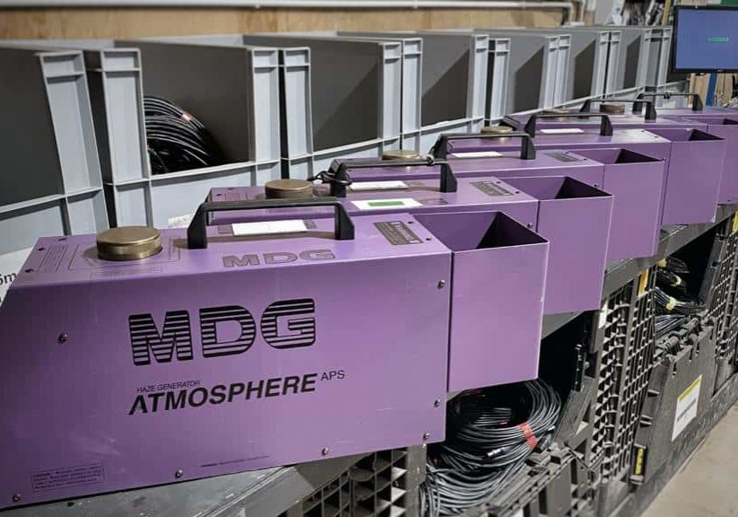 MDG ATMOSPHERE haze generators - see caption in press release