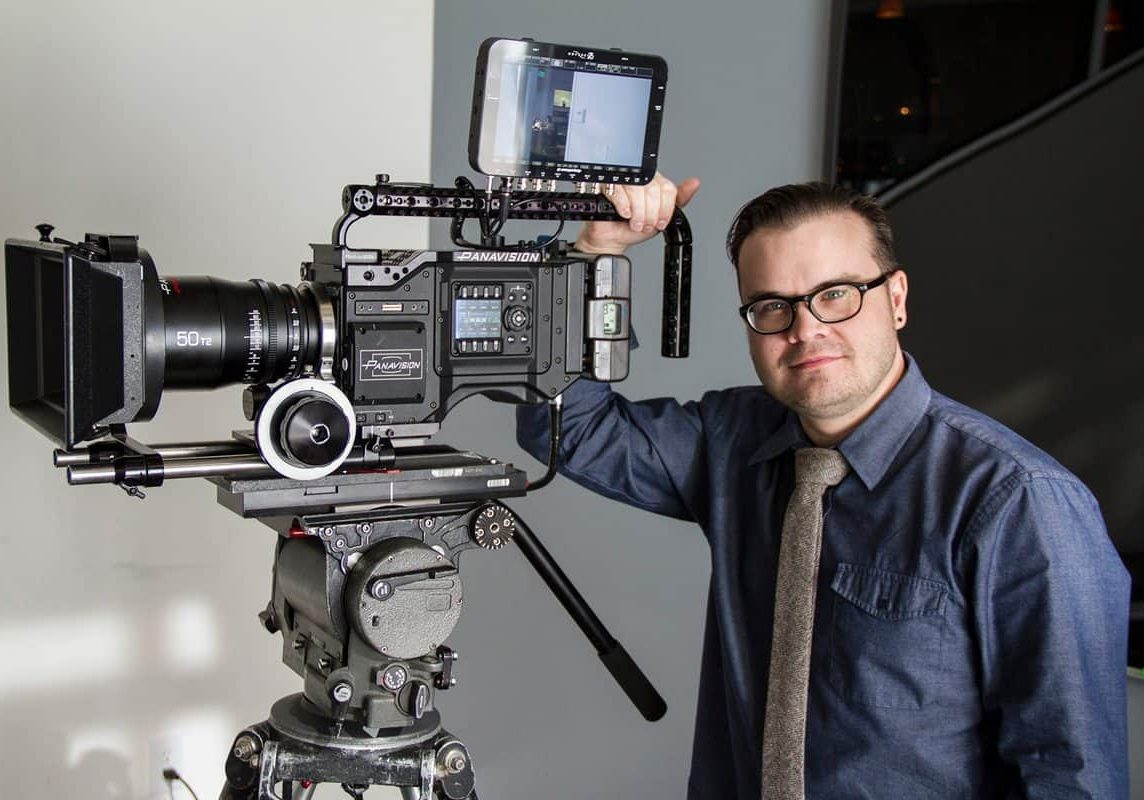 Michael Cioni with the Panavision Millennium DXL Camera