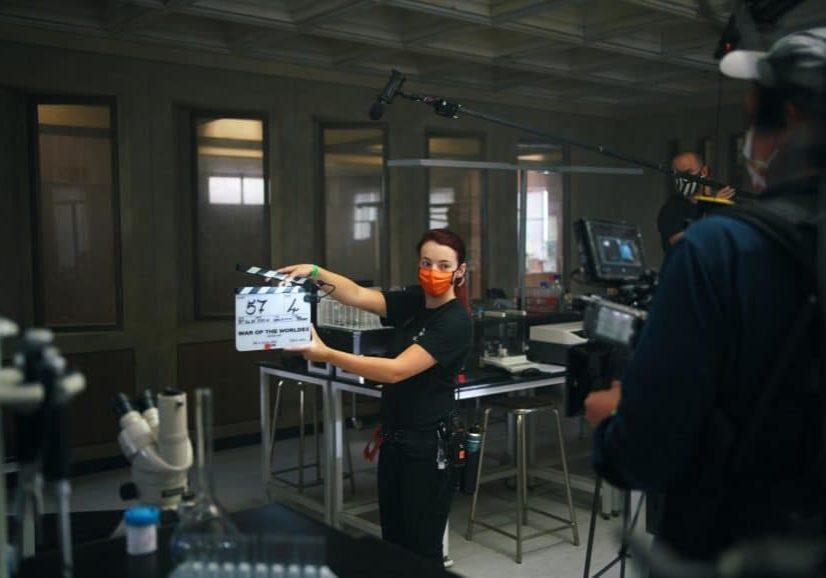 On set of War of the Worlds, image courtesy Urban Myth