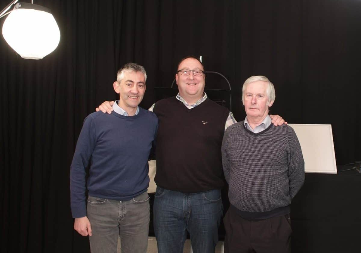 Three-point lighters... (l-r) Phil Mallia (operations director), Nick Shapley (MD) and Graham Kerr (sales director)