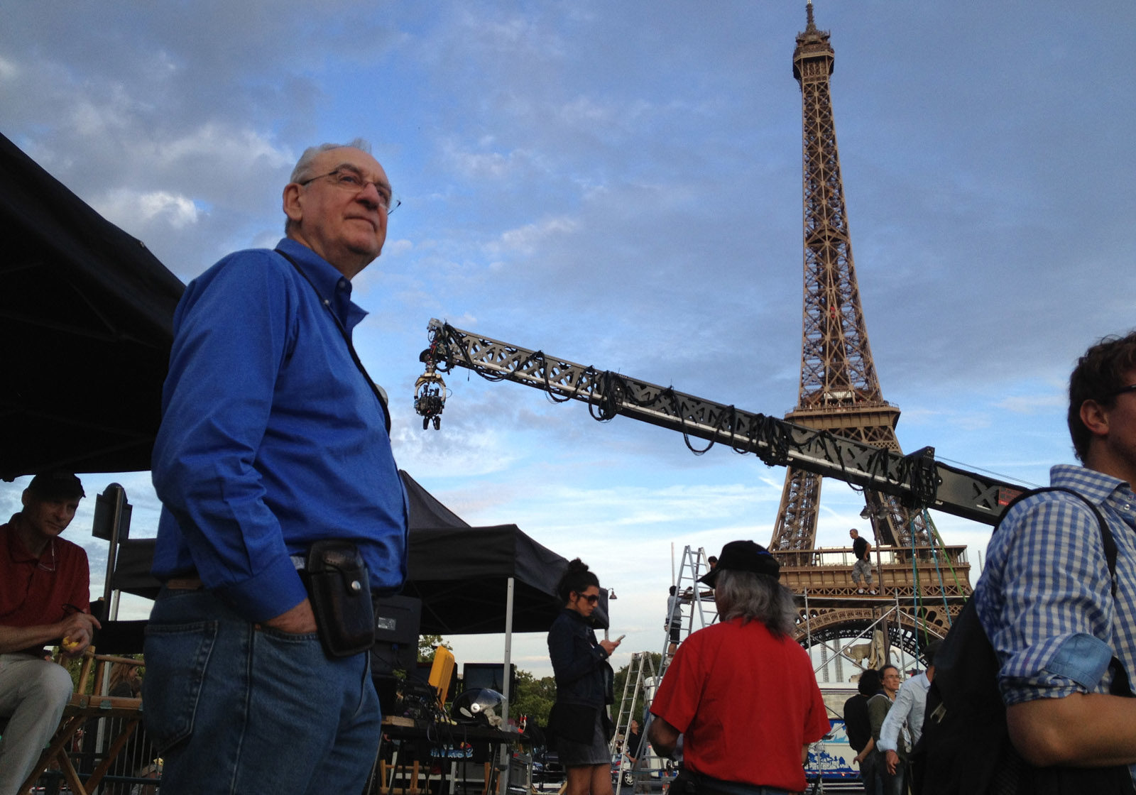 On the set of Smurfs 2 in Paris