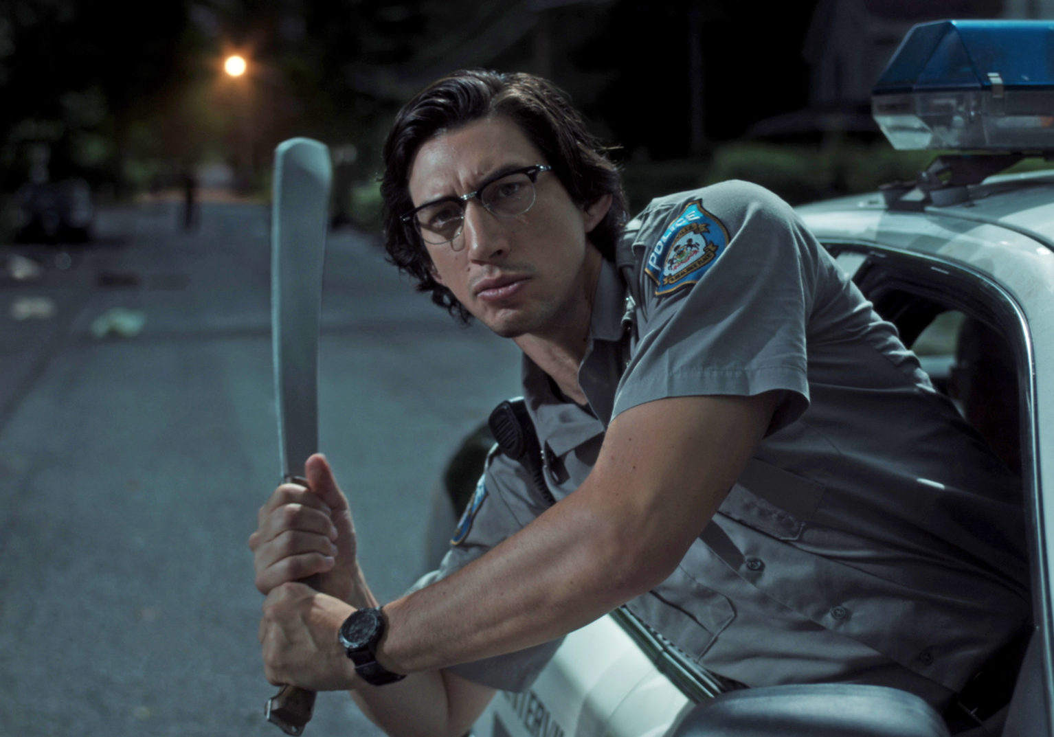 """Adam Driver stars as """"Officer Ronald Peterson"""" in writer/director Jim Jarmusch's THE DEAD DON'T DIE, a Focus Features release.  Credit : Frederick Elmes / Focus Features  © 2019 Image Eleven Productions, Inc."""