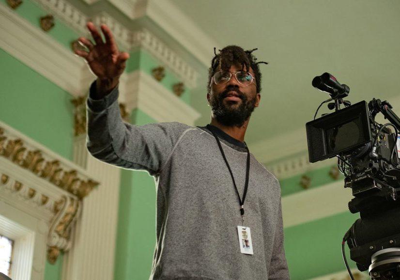 Director Shaka King on the set of Judas and the Black Messiah