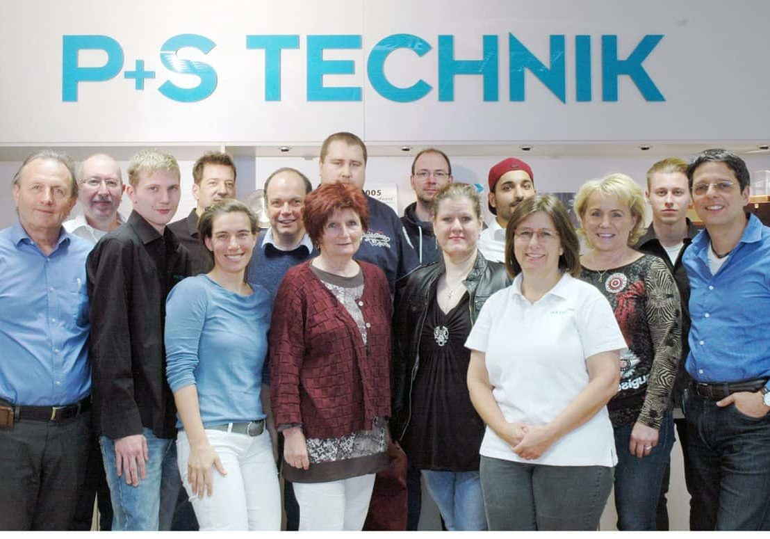 P+S Technik team in 2015
