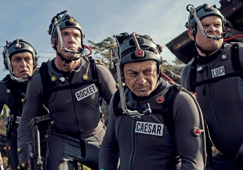 (l-r) Karin Konoval, Terry Notary, Andy Serkis and Michael Adamthwaite