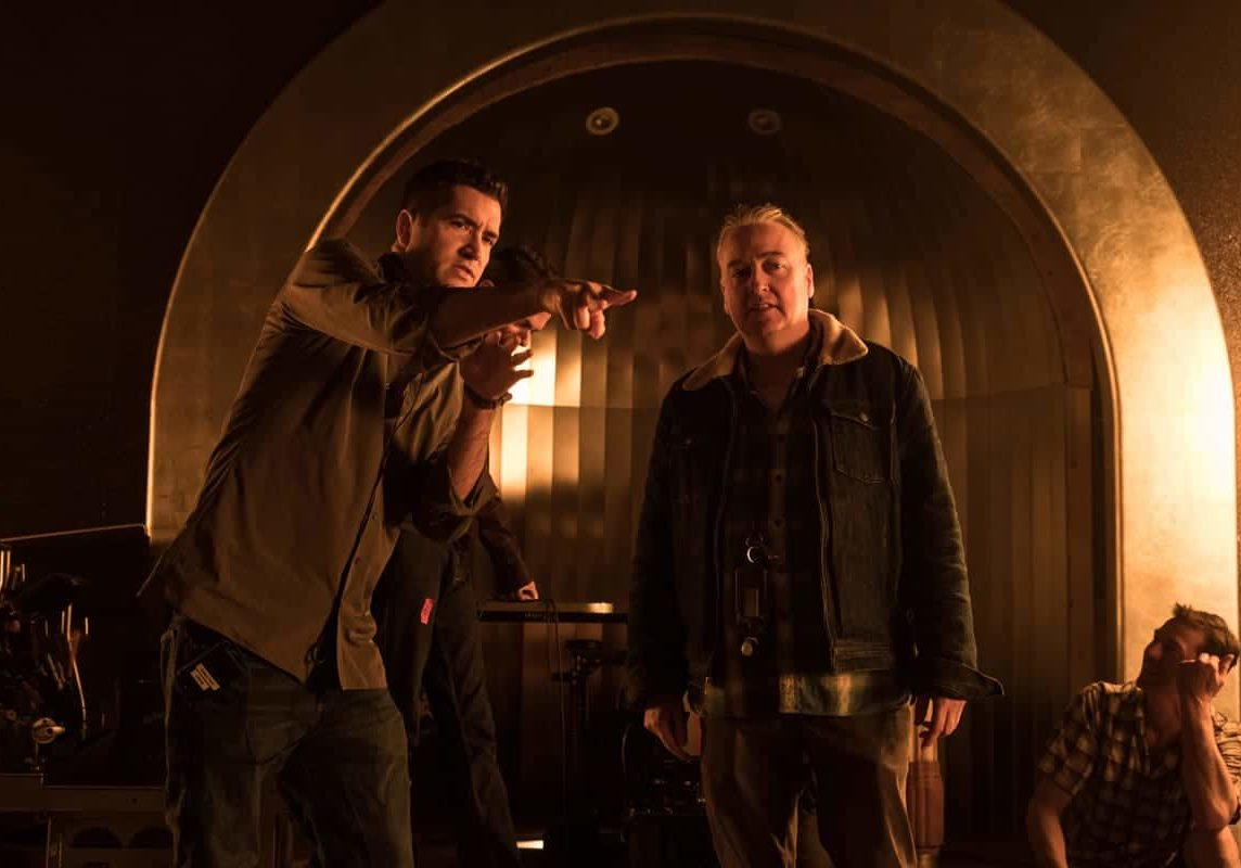 Director Drew Goddard, left, and cinematographer Seamus McGarvey BSC ASC